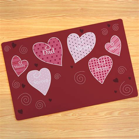 create   hearts door mat