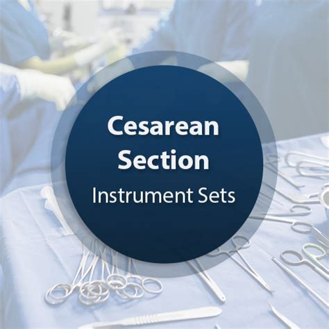 forceps used in c section cesarean section surgical instrument set