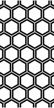 repeat and black white hexagon pattern background vector