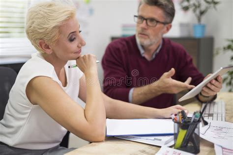 Showing Desk Login by Busy Day At Work Stock Photo Image 62832272