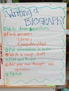 biography anchor chart fifth grade ideas pinterest characteristics of a biography anchor chart classroom
