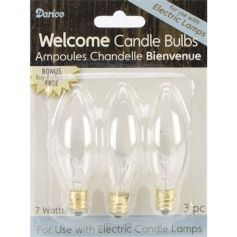 Darice Candle L by Darice Candle L Collection Welcome Candle Bulbs 3 Pack