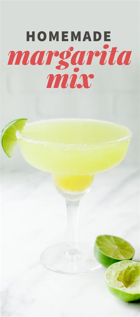 fresh margarita mix recipe