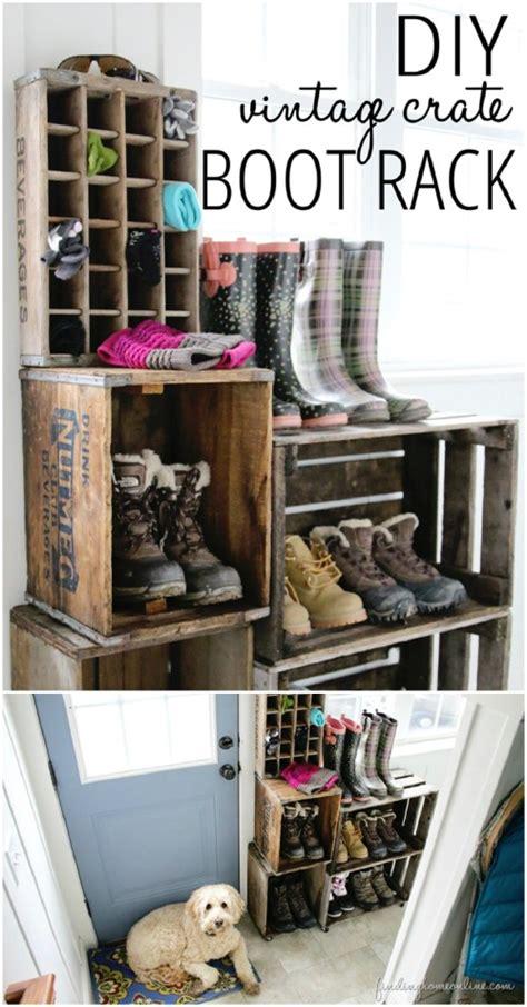 creative diy rustic storage ideas  organize  home