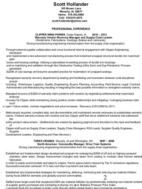 Vendor Development Manager Resume by Resume International Strategic Sourcing Supplier