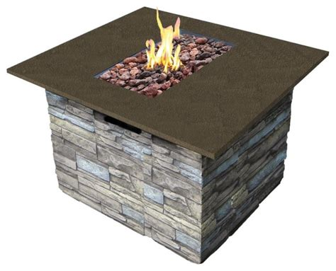 Bond Firepit Bond Newcastle Table With Cover Contemporary Pits By Overstock