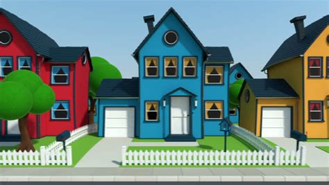 3d house animation youtube day and night cartoon seamless loop beautiful 3d