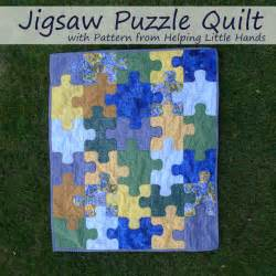 pieces by polly jigsaw puzzle baby quilt free pattern