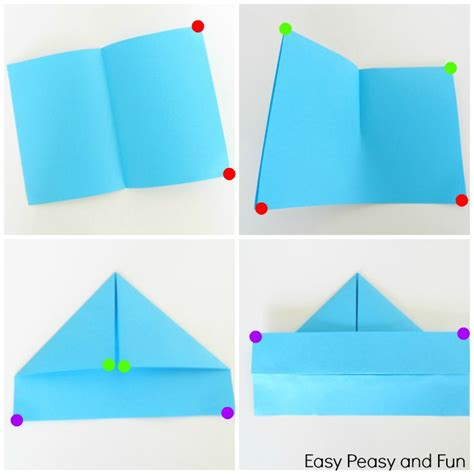 Folding Paper Boats - how to make a paper boat origami for easy peasy