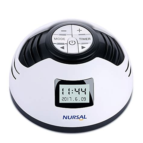 nursal white noise machine sleep sound machine alarm clock with 8 soothing sounds spa