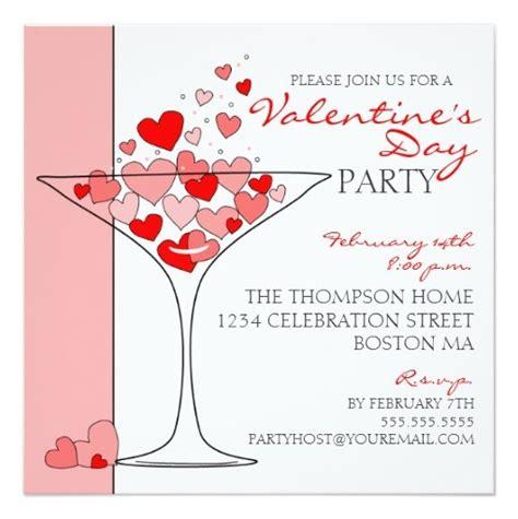 valentines day card square template cocktail invitation square