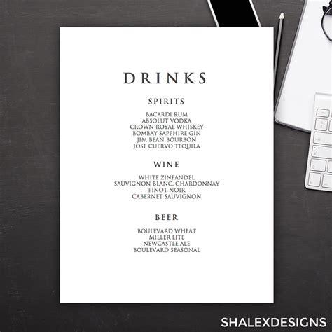 Word Vorlage Cocktailkarte getr 228 nkekarte vorlage word kostenlos vorlagen