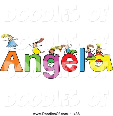 Vector Clipart Of A Childs Sketch Of Five On