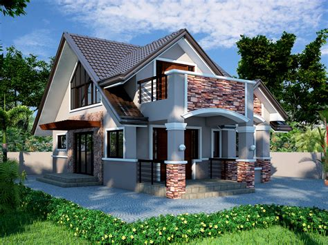 home design type of house chalet bungalow bungalow front box type house design in the philippines joy studio