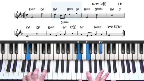 tutorial piano over the rainbow somewhere over the rainbow jazz piano tutorial youtube