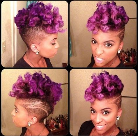 Curly Natural Purple Hair Short Women's Cut Design   Colored hair   Pinterest