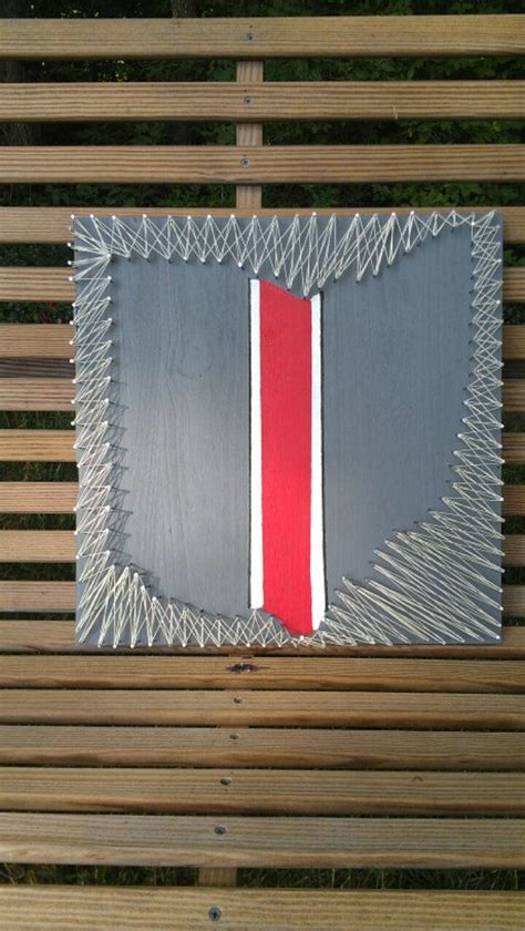 Ohio State String - ohio state buckeyes string negative space by