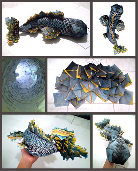 How To Make Koi Fish Origami - 3d origami koi fish by zetsumeiongaku on deviantart