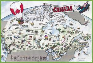 travel map of canada canada tourist map