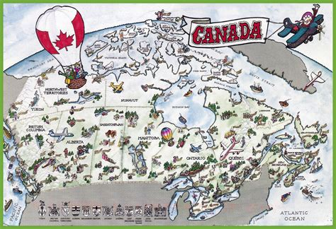 tourist map of canada canada tourist map