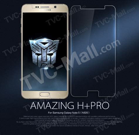 Galaxy Note 5 Nillkin Amazing Hpro Tempered Glass Samsung N920 Clea nillkin for samsung galaxy note 5 amazing h pro tempered