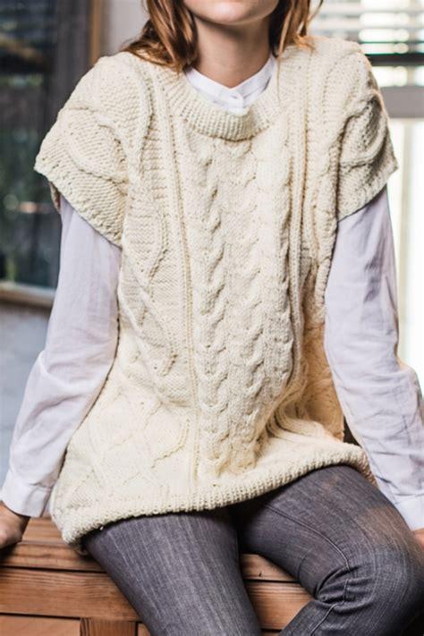 stricken pullunder pullunder mit aranmuster initiative handarbeit