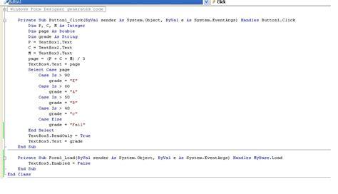 sle vb net programs for beginners what how how to write simple vb net mark sheet program