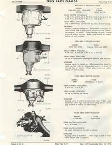 sweptline org 1963 1968 parts catalog axle rear