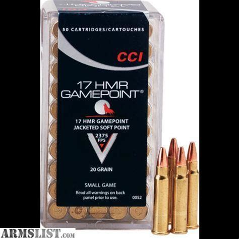 17 hmr ammo for sale bulk rounds in stock today armslist for sale cci 17 hmr 20gr gamepoint ammunition