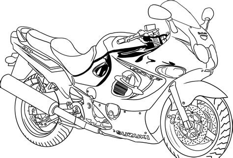 suzuki motorcycle coloring pages kids page suzuki bike coloring pages