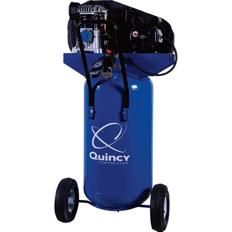 free shipping quincy single stage portable electric air compressor 2 hp 26 gallon vertical