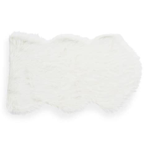 tappeto bianco tappeto bianco in simil pelliccia 60 x 100 cm eskimo