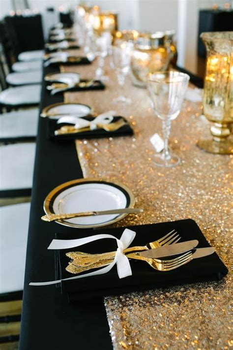 20 Black and Gold Wedding Color Ideas for Fall /Winter
