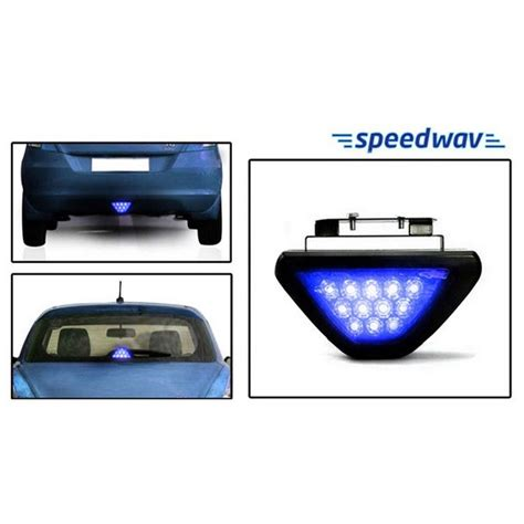 2012 hyundai sonata brake light bulb buy speedwav blue 12 led brake light with flasher