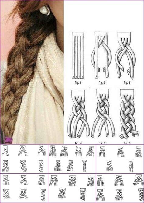 how to braid hair step by step how to super cute 4 strand braid step by step diagram