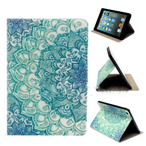 pattern password for ipad mini hot flower pattern flip stand pu leather case cover for