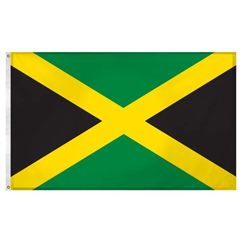 flags of the world jamaica jamaica flag 3ft x 5ft super knit polyester