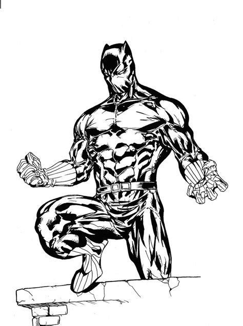black panther marvel drawing coloring coloring pages