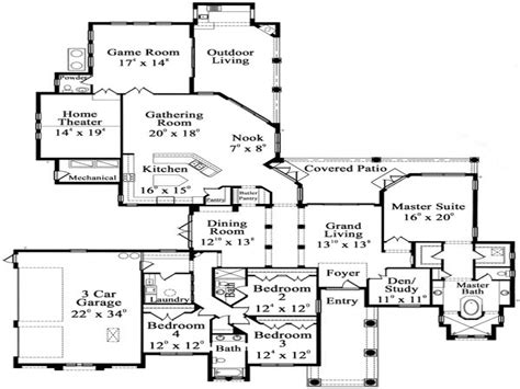One Floor Home Plans | one story luxury floor plans luxury hardwood flooring one