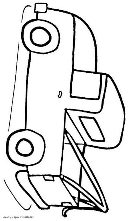 very simple coloring page for boys with car pickup truck simple coloring page