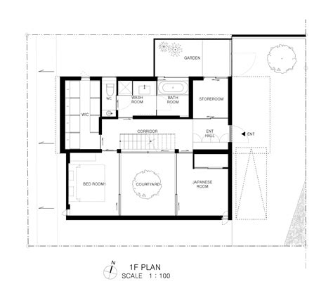 patio floor plan gallery of patio house apollo architects associates 9