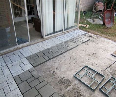 removing mold from concrete patio diy driveway paving pavement mold concrete stepping
