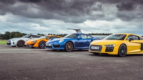 Porsche Turbo Vs Gtr by Gtr Vs R8 V10 Plus Vs 570s Vs 911 Turbo S You Won T