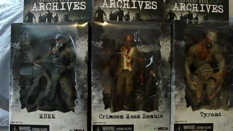 figure archive neca resident evil archives series 3 figures