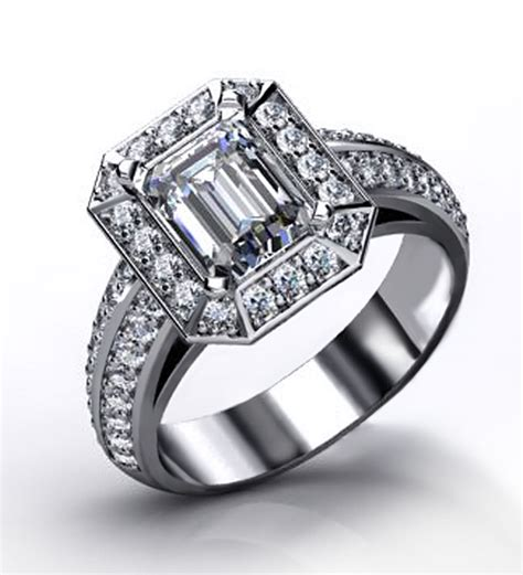 emerald cut engagement rings jewelry designs