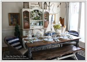 Cottage Themed Decor - from my front porch to yours french farmhouse nautical dining room welcome home summer tour