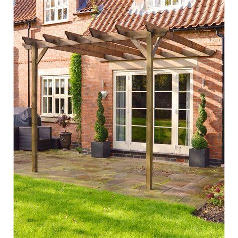 wooden garden lean to pergola 3 6m x 3 6m