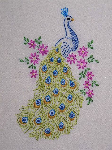 embroidery design of peacock peacock embroidery embroidery patterns pictures