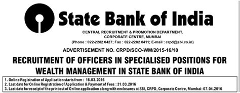 state bank of india melbourne application for recruitment of probationary officers in