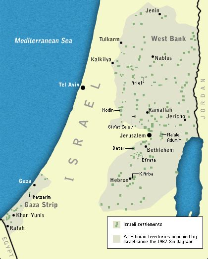 middle east map west bank npr the mideast a century of conflict map8